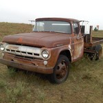 1957 Ford 2 ton truc with Hydr. lift
