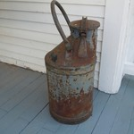 old large oil container