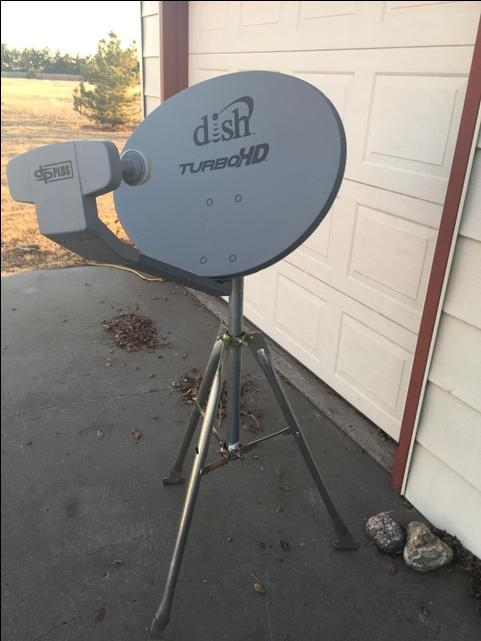 Satellite dish for RV