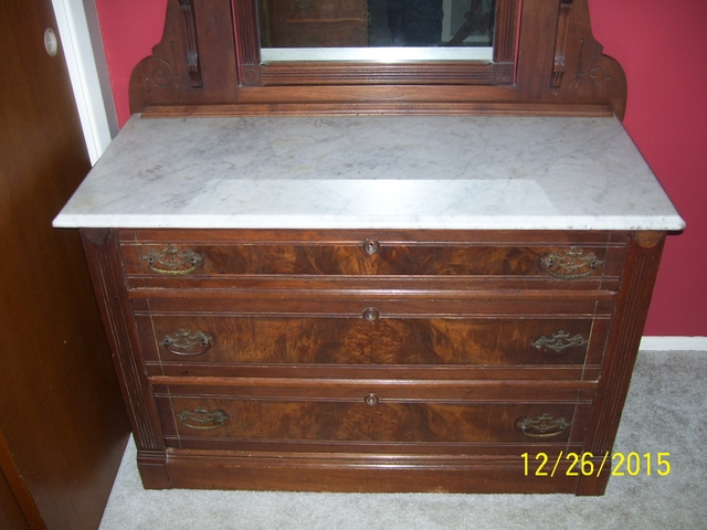 Price Reduced Antique Marble Top Dresser DiscoverStuff