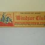 Vintage Widnsor Club Wooden Cheese Box