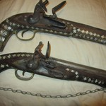 2 Pirate Flintlock Pistols Dated 1822 & 1853