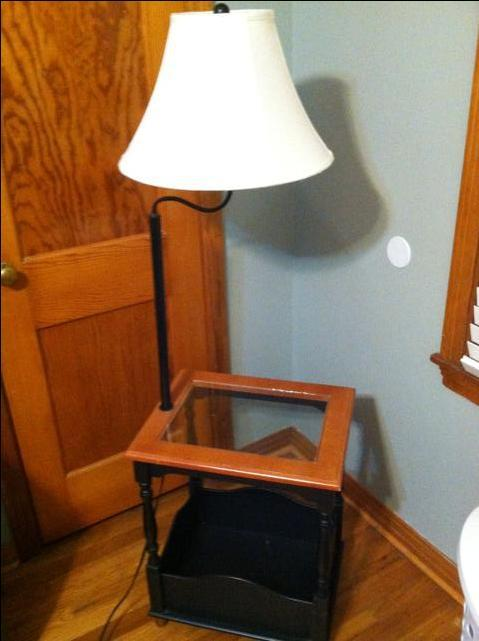 night stand end table with built in lamp reduced nex tech. Black Bedroom Furniture Sets. Home Design Ideas
