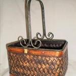 Metal handled basket