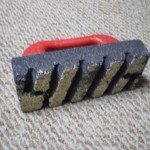 "Rub block for concrete 8"" x 3 1/2"" x 1/2"" deep"