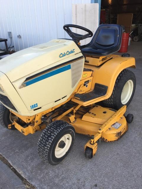 cub cadet 1863 garden tractor tct classifieds. Black Bedroom Furniture Sets. Home Design Ideas