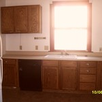 kitchen cabinets, counter top, sink & dishwasher