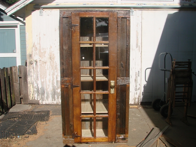 weathered wood kitchen pantry curio cabinet nex tech