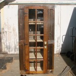 Weathered Wood Kitchen Pantry/Curio Cabinet