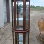 Small Lighted China cabinet with Glass Shelves