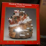 musical water fountain--santa in sleigh