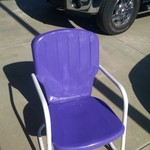 50'S STYLE METAL LAWN CHAIR