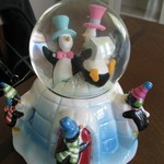 Penguin Snow Globe and Music Player