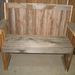 Weathered Cedar Garden Bench