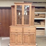 Solid Oak Cabinet/Display Case