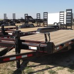 2015 EAGLE TAILER 7X20 FLATBED EQUIPMENT TRAILER