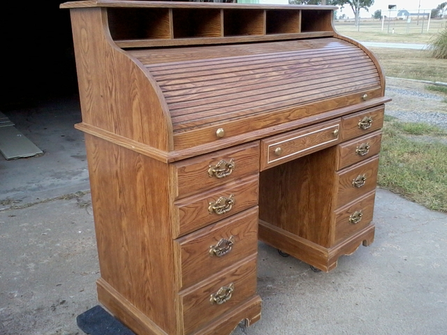 new used roll top desk for sale 264 ads in us lowest prices. Black Bedroom Furniture Sets. Home Design Ideas