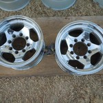 4  ford 3/4 16 inch  chrome rims
