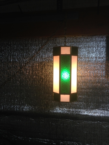 Vintage Stained Glass Retro Swag Lamp