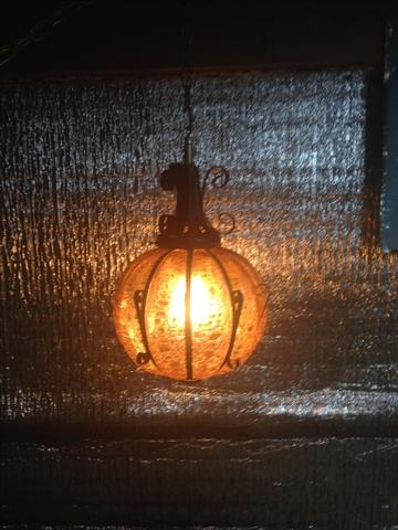 Antique Spanish Bubble Glass Swag Lamp Reduced