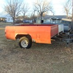 Chevy pick-up box trailer
