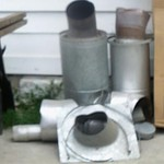 Wood stove piping