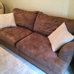 Brown Micro-fiber Couch