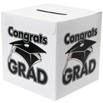 Congrats Grad Money Box/White...new...still in pkg