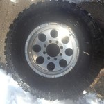 New Tire and Rim off 02 Ford 3/4 ton