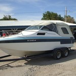 1990 21' 210 Invader cuddy cabin w/260hp Mercruiser & traile