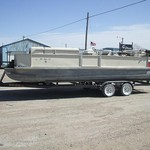 1977 24' Landau pontoon with 1988 90hp Johnson & 2004 traile