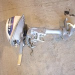 1975 4hp Evinrude outboard with weedless gearcase