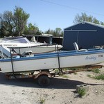 1975 15' Snubby w/45hp Chrysler and trailer