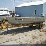 1971 16' Richline w/25hp Evinrude & trailer