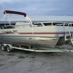 2004 25' Voyager Tritoon pontoon with EFI 4S 130hp Honda & t