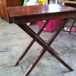 Antique Wood Folding Table $12.00