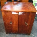 Heavy Wood cabinet 20.00