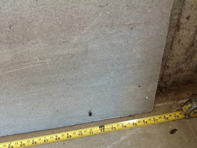 1 inch thick slab of granite or marble or nex tech for 2 thick granite