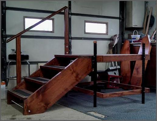 Stairs For Rvs : Portable adjustable camper rv deck steps ptci