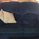 LOVESEAT DUAL RECLINING ROCKING NAVY BLUE MUST SELL COUCH