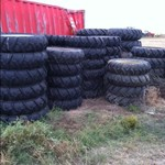 Sprinkler tires - on Galvenized rims