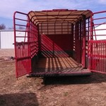 2008 Travalong Bartop stock trailer