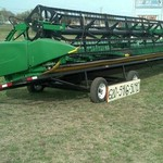 2013 JOHN DEERE 640 FLEX DRAPER HEADER - EXCELLENT CONDITION