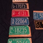 UNISSUED 1960-1970s KANSAS LICENSE PLATES