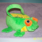 PLUSH FROG EASTER BASKET