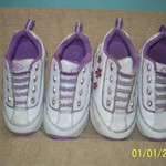 ADORABLE SLIP-ON GIRLS TENNIS SHOES-SIZE 7 1/2 and 8 1/2