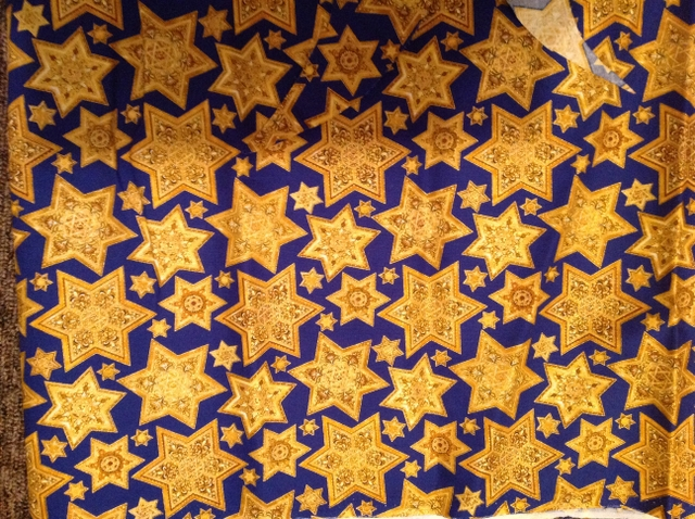 Jewish Star of David Fabric