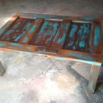 Rustic old door coffee table