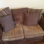 Sofa, Loveseat, and 3 tables