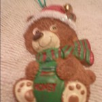 Bear with Santa hat~Please call only